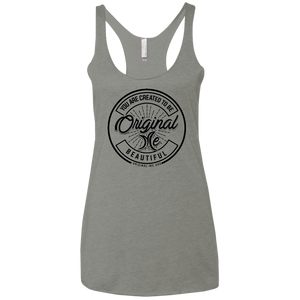 #3 (black) - Beautiful - NL6733 Next Level Ladies' Triblend Racerback Tank