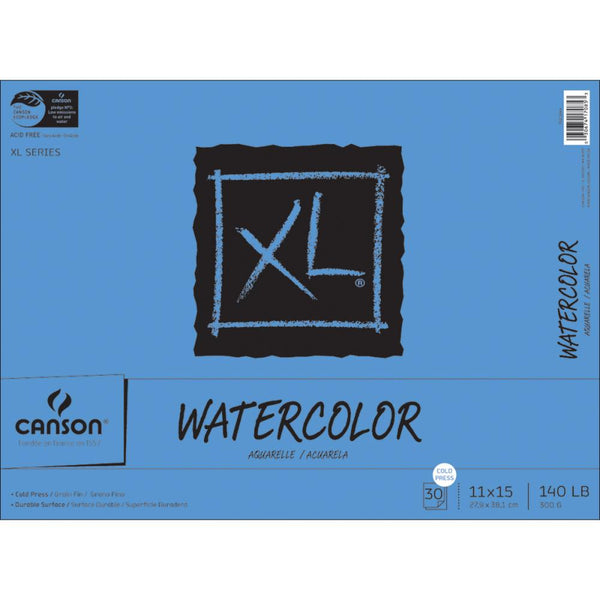 "Canson XL Watercolor Paper Pad 11""X15"""