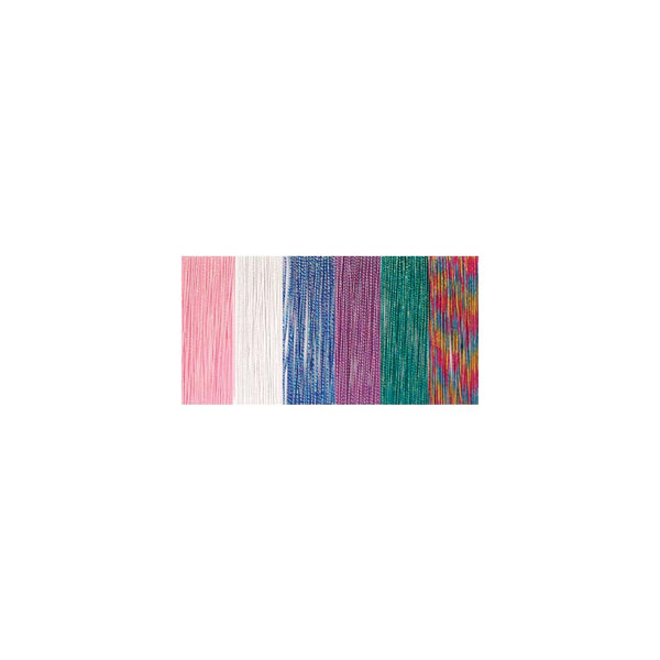 Clubhouse Crafts Elastic Cord, 1mm, Sparkle - 4yd Each Of 6 Colors