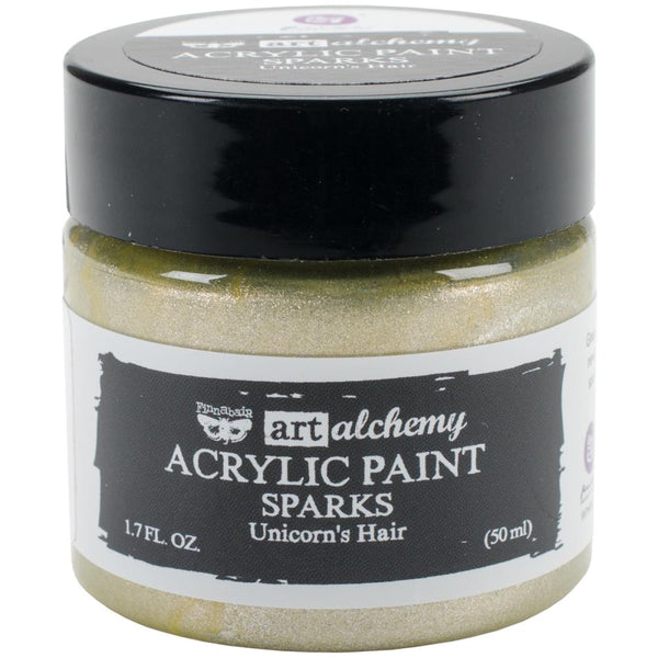 Prima, Finnabair Art Alchemy Sparks Acrylic Paint 1.7 Fluid Ounces, Unicorn's Hair