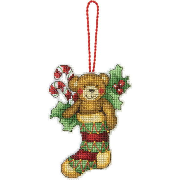 "Dimensions, Susan Winget Plastic Canvas Ornament Kit, Bear 3.25""X4.5"" (14 Count)"
