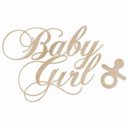 Kaisercraft, Wood Flourishes 2/Pkg Baby Girl Words - Scrapbooking Fairies