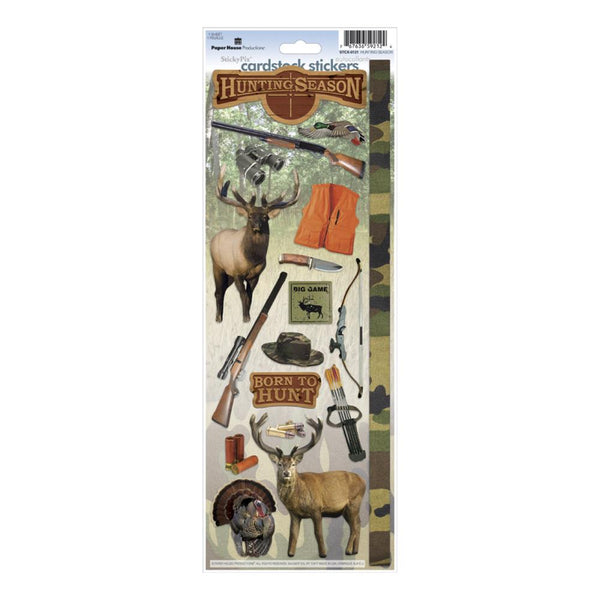 "Paper House Cardstock Stickers 4.625""X13"", Hunting Season - Scrapbooking Fairies"
