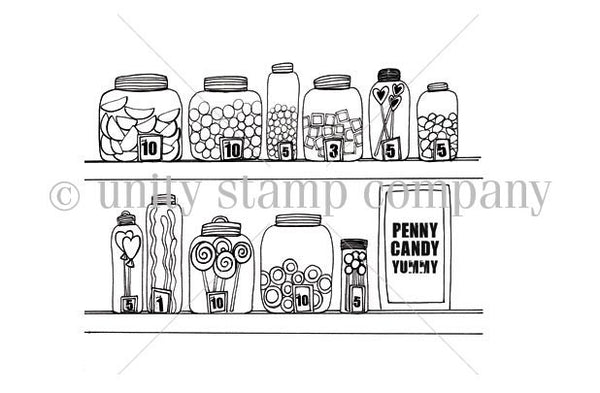 """itty bitty"" collection, Rows of Yummies, Unity, Cling Stamps (Price Firm)"