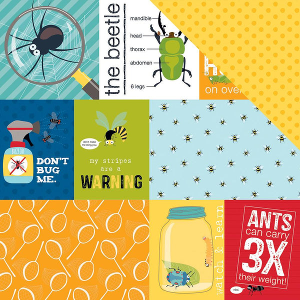 "Bella Blvd, Bug Explorer Double-Sided Cardstock 12""X12"", Daily Details"