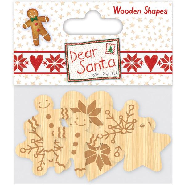 Helz Cuppleditch, Helz Dear Santa Wooden Shapes