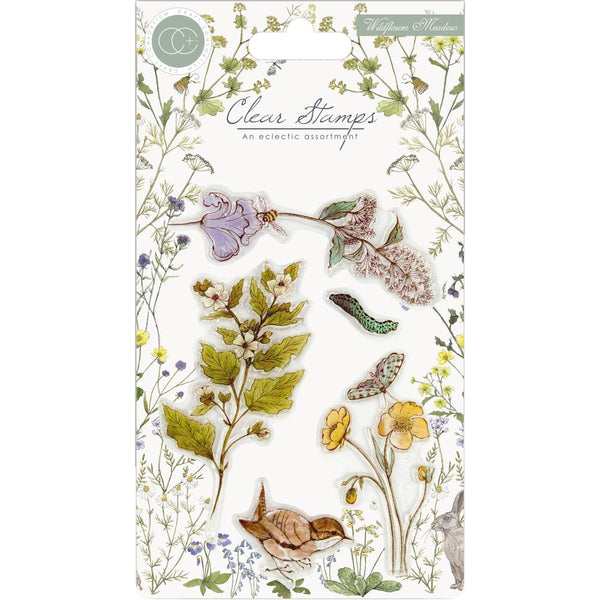Craft Consortium A5 Clear Stamps, Wildflower Meadow, Wild Flowers
