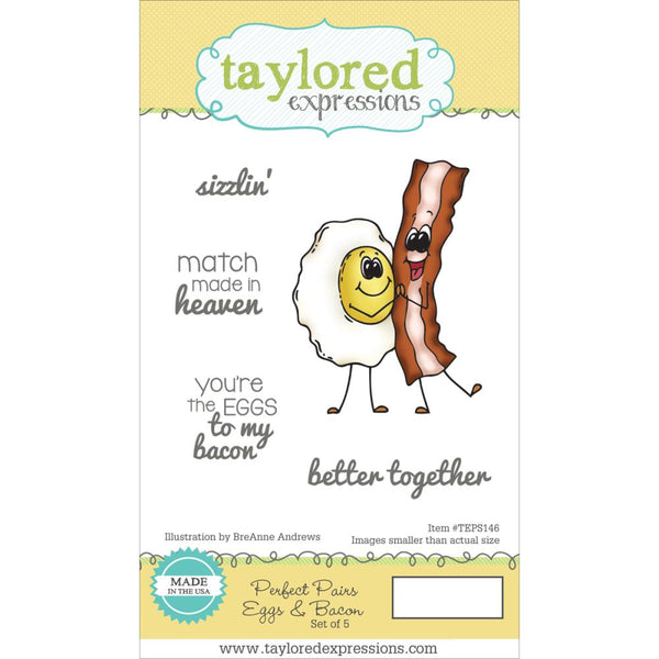 Taylored Expressions, Perfect Pairs - Eggs & Bacon - Scrapbooking Fairies