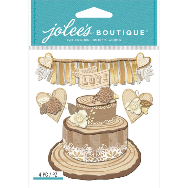 Jolee's Boutique Dimensional Stickers, Shimmering Wedding Cake