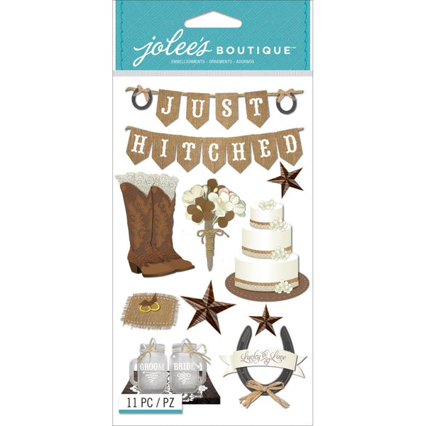 EK Success, Jolee's Boutique Dimensional Stickers, Western Wedding - Scrapbooking Fairies