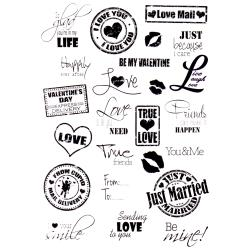 "Joy Crafts, Clear Stamps 8.25""X5.75"",  Sending Love"