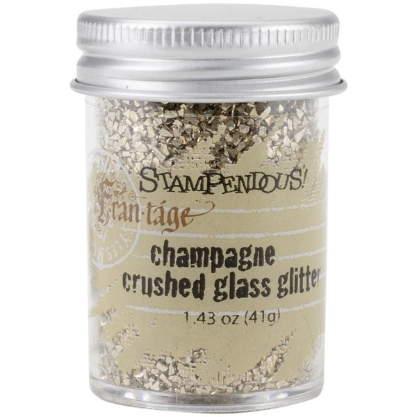 Stampendous Frantage Crushed Glass Glitter 1.41oz, Champagne