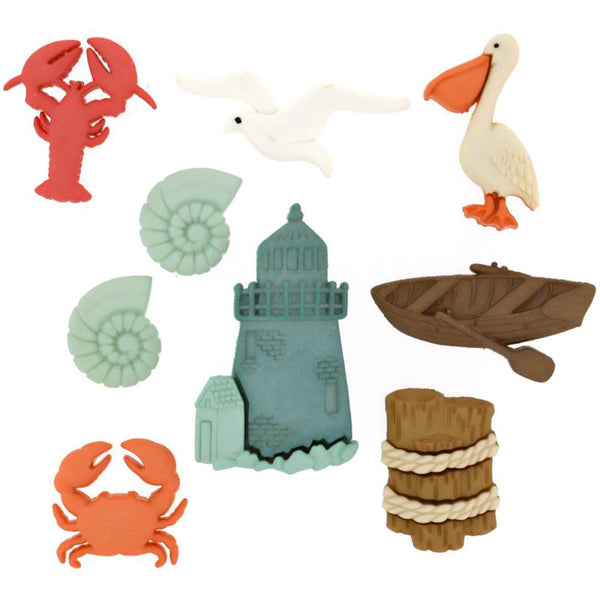 Dress It Up Embellishments, Ocean View - Scrapbooking Fairies