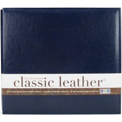 "We R Memory Keepers, We R Classic Leather Post Bound Album 12""X12"", Navy - Scrapbooking Fairies"