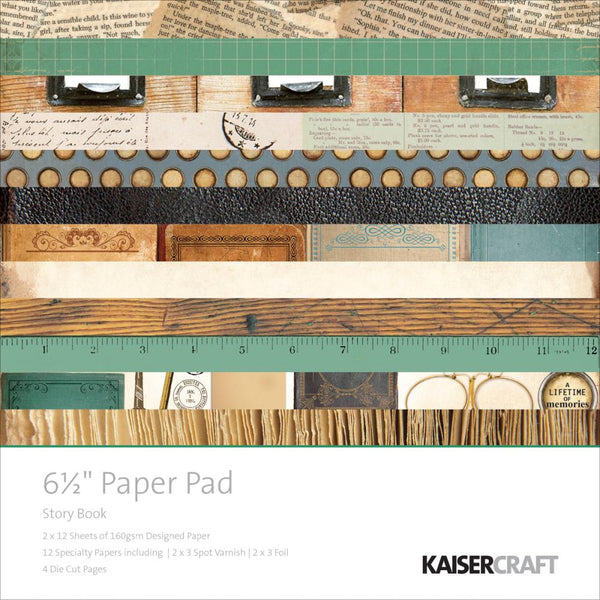 "Kaisercraft Paper Pad 6.5""X6.5"" 40/Pkg, Story Book - Scrapbooking Fairies"