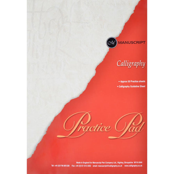 "Manuscript Calligraphy Practice Pad 50 Sheets, 11.5""X8.5"" - Scrapbooking Fairies"