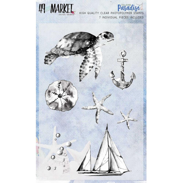 49 & Market, Island Paradise, Clear Stamp Set