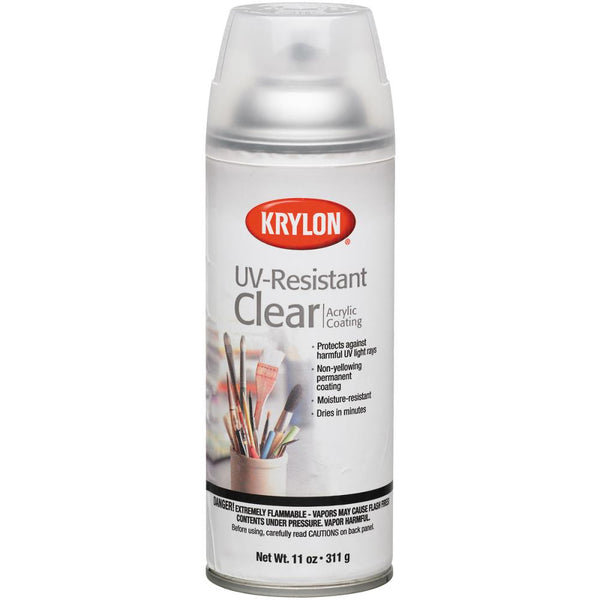 Krylon, UV-Resistant Acrylic Coating Aerosol Spray 11oz, Clear, Gloss
