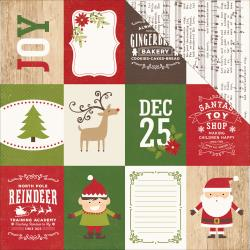 "Echo Park Paper Co. ""I Love Christmas"" Double-Sided Cardstock 12""X12"" Journaling Cards 3""X4"""