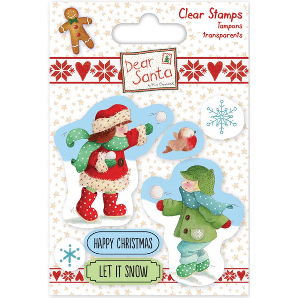 Helz Cuppleditch, Dear Santa Stamps, Snowball Fight - Scrapbooking Fairies