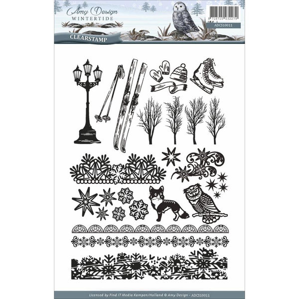 Find It,  Amy Design, Wintertide Clear Stamps - Scrapbooking Fairies