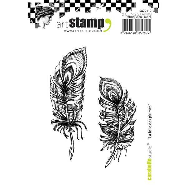 Carabelle Studio Cling Stamp A7, The Madness Of Feathers - Scrapbooking Fairies