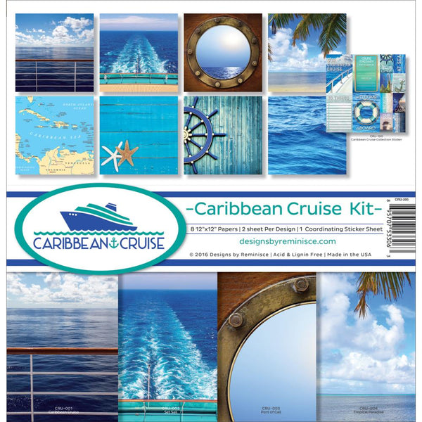 "Reminisce Collection Kit 12""X12"", Caribbean Cruise"