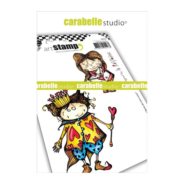 Carabelle Studio, Cling Stamp A6 By La Rafistolerie, King & Queen Of My Heart