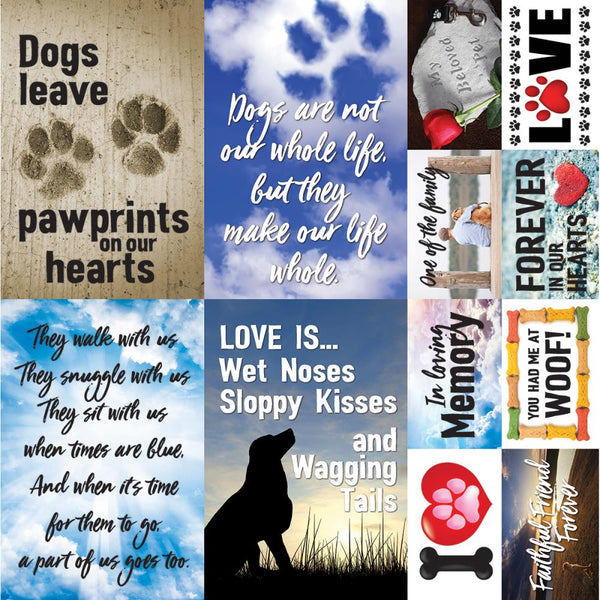 "Pawprints On My Heart Poster Stickers 12""X12"""
