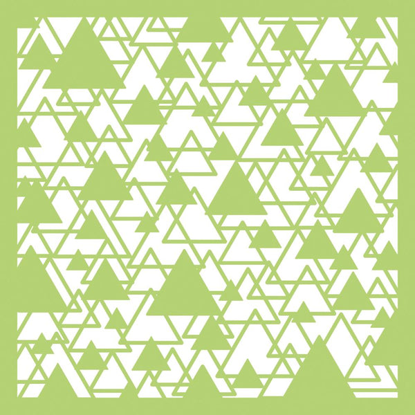 "Kaisercraft Designer Template 6""X6"", Abstract Triangle"