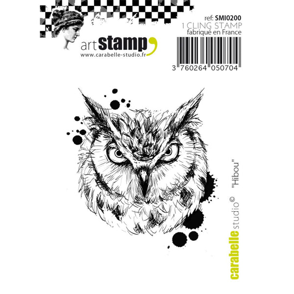 "Carabelle Studio Cling Stamp Small 2""X2.75"", Owl"