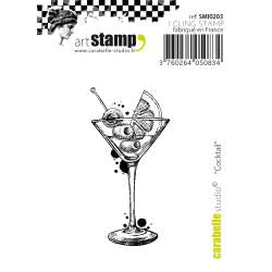 "Carabelle Studio Cling Stamp Small 2""X2.75"" Cocktail"