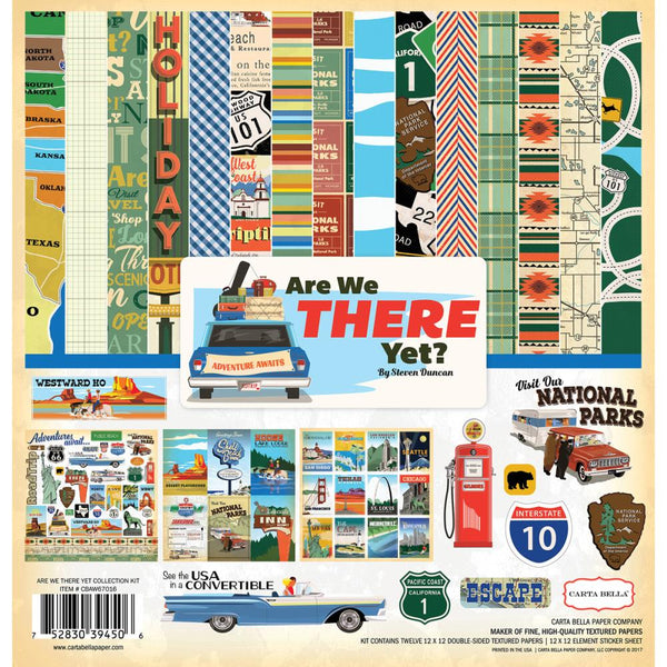 "Carta Bella Collection Kit 12""X12"", Are We There Yet - Scrapbooking Fairies"