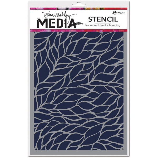 "Dina Wakley Media Stencils 9""X6"", Viney"