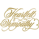 Couture Creations Anna Griffin Hotfoil Stamp, Heartfelt Sympathy