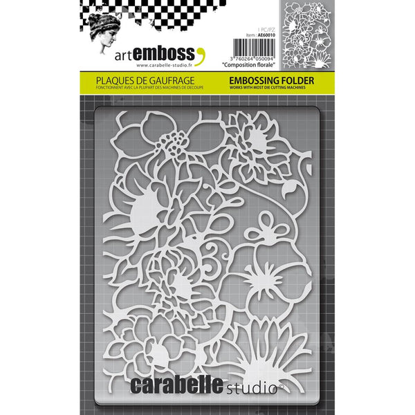 Carabelle Studio, Composition Florale, Embossing Folder