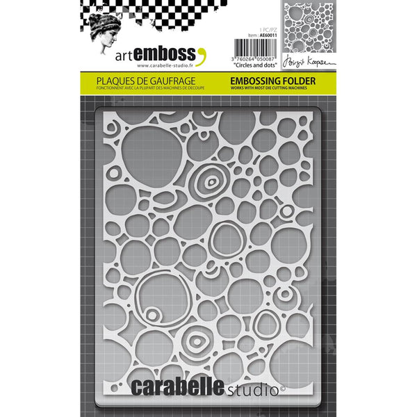 Carabelle Studio Embossing Folder, Circles & Dots