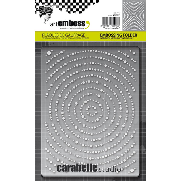 Carabelle Studio Embossing Folder, Grands Cercles