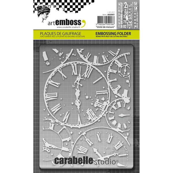 Carabelle Studio Embossing Folder, Horloges