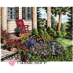 "C.C Designs, Cling Stamp 4.5""X3.413"" Back Porch"