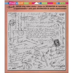 "Stampendous, 8""x 8"" Cling Stamp, Decor Script"