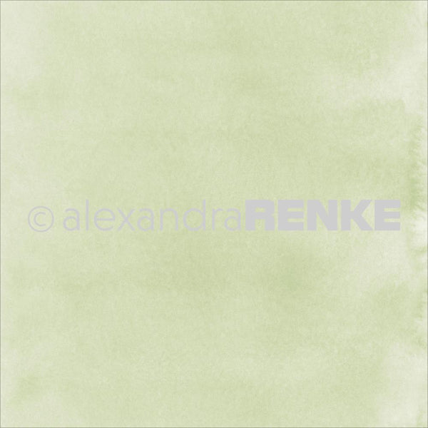 "Alexandra Renke Mimi's Basic Design Paper 12""X12"", Shamrock Green Watercolor"