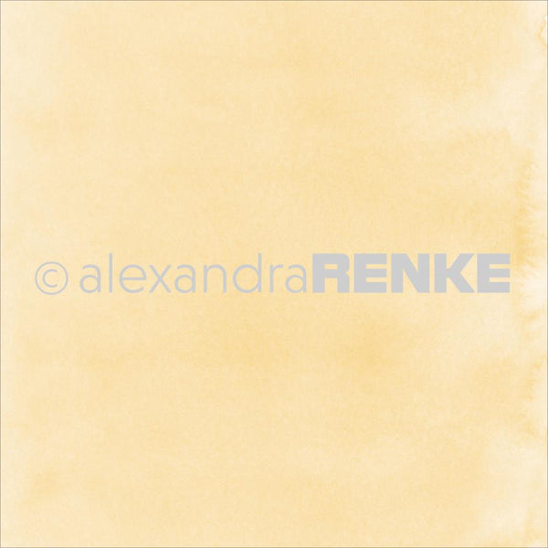 "Alexandra Renke Mimi's Basic Design Paper 12""X12"", Yellow Watercolor"