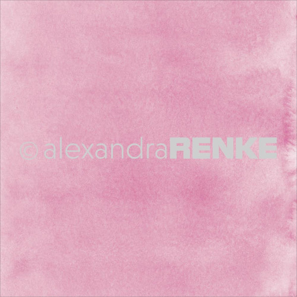 "Alexandra Renke Mimi's Basic Design Paper 12""X12"", Bright Pink Watercolor"