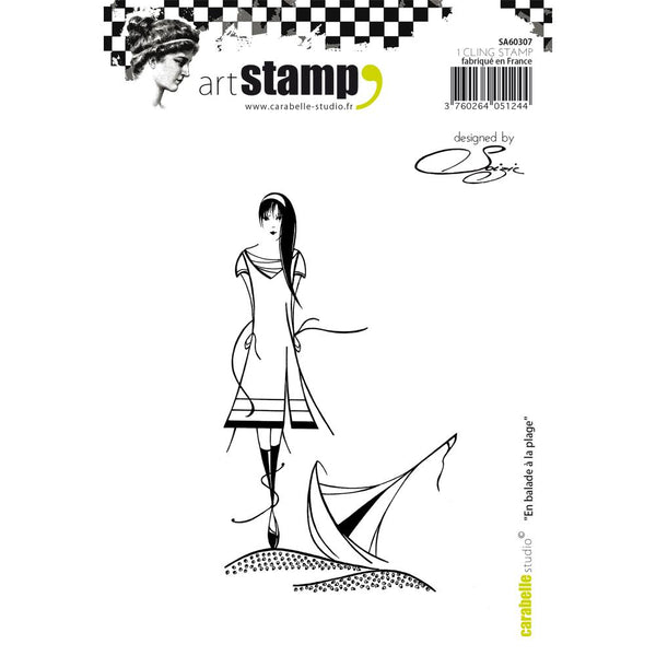 Carabelle Studio Cling Stamp A6, By Soizic, Walking To The Beach