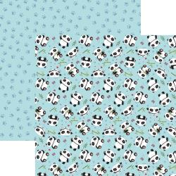 "Reminisce, Panda-Monium Double-Sided Cardstock 12""X12"",  Playful Panda"