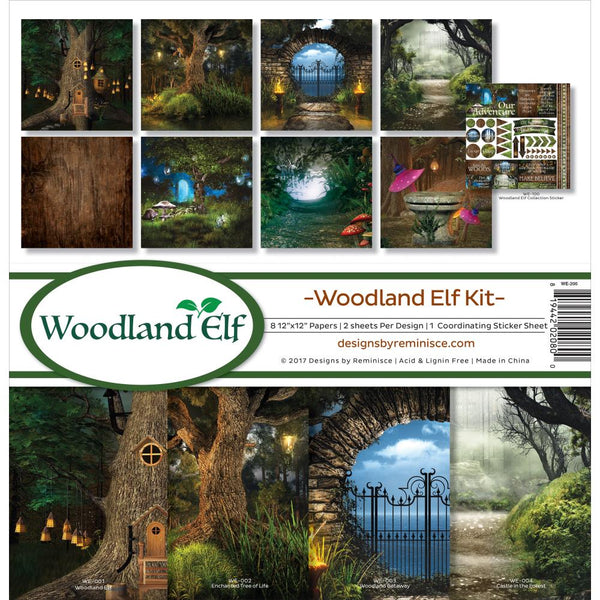 "Reminisce Collection Kit 12""X12"", Woodland Elf"