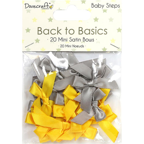 Dovecraft,  Back To Basics Mini Satin Bows 20/Pkg - Scrapbooking Fairies