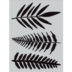 "Darkroom Door, Large Stencil, 9""X12"",  Ferns"