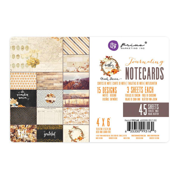 "Prima, Amber Moon Double-Sided Journaling Cards 4""X6"" 45/Pkg"